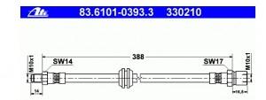 Bremsschlauch hinten 330210