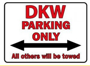 DKW Parking only