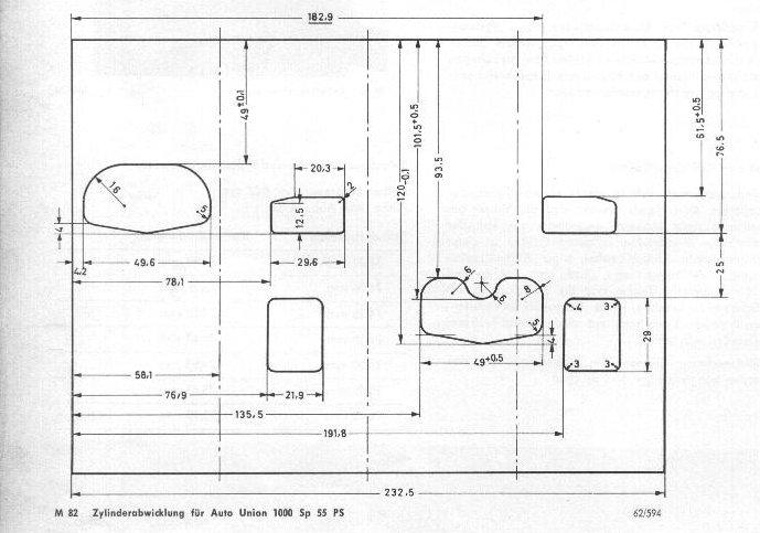 Zylinderabwicklung SP 55ps