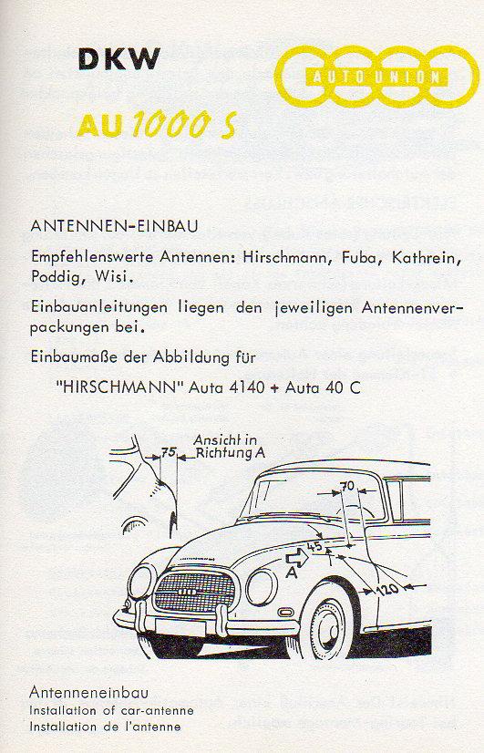 Antenneneinbau